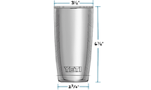 Load image into Gallery viewer, Yeti | Rambler 20oz w/ MagSlider Lid | White