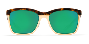 Costa | Anaa Sunglasses | Shiny Retro Tort Creamy Mint - Green Mirror 580P Lens