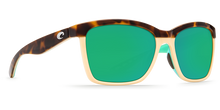 Load image into Gallery viewer, Costa | Anaa Sunglasses | Shiny Retro Tort Creamy Mint - Green Mirror 580P Lens