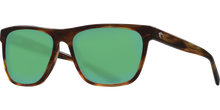 Load image into Gallery viewer, Apalach Sunglasses | Shiny Tortise - Green Mirror 580G Lens