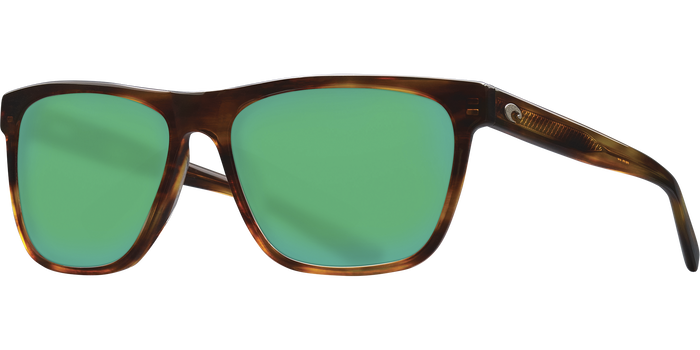 Apalach Sunglasses | Shiny Tortise - Green Mirror 580G Lens