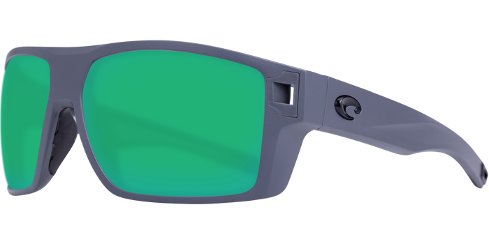Diego Sunglasses | Matte Grey - Green Mirror 580P Lens