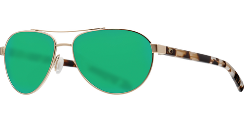 Costa | Fernandina Sunglasses | Brushed Gold - Green Mirror 580P Lens