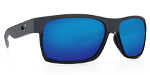 Load image into Gallery viewer, Half Moon Sunglasses | Shiny Black Matte Black - Blue Mirror 580G Lens