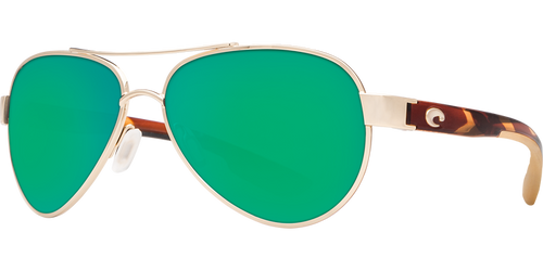 Costa | Loreta Sunglasses | Rose Gold - Green Mirror 580P Lens