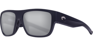 Costa | Sampan Sunglasses | Matte Black - Grey Silver Mirror 580G Lens