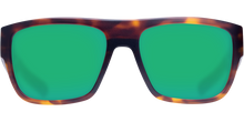 Load image into Gallery viewer, Sampan Sunglasses | Matte Tortise - Green Mirror 580G Lens