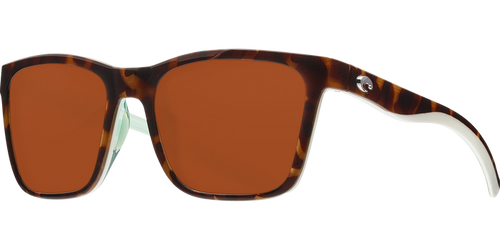 Costa | Panga Sunglasses | Shiny Tort, White, Seafoam Crystal - Copper 580P Lens
