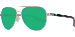 Peli Sunglasses | Brushed Gold - Green Mirror 580PLens