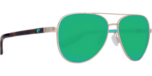 Load image into Gallery viewer, Peli Sunglasses | Brushed Gold - Green Mirror 580PLens