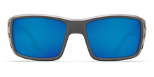 Load image into Gallery viewer, Permit Sunglasses | Matte Grey - Blue Mirror 580P Lens