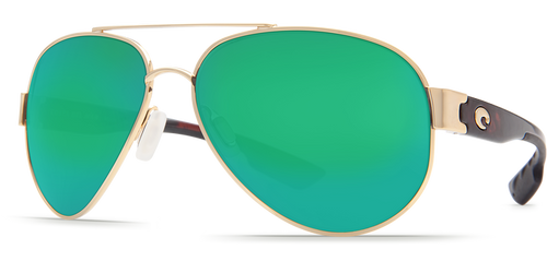 Costa | South Point Sunglasses | Gold - Green Mirror 580P Lens