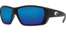 Load image into Gallery viewer, Tuna Alley Sunglasses | Matte Black- Blue Mirror 580G Lens