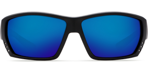 Tuna Alley Sunglasses | Matte Black- Blue Mirror 580G Lens