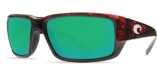 Costa | Fantail Sunglasses | Tortise - Green Mirror 580P Lens