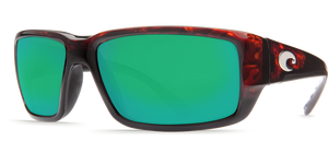 Fantail Sunglasses | Tortise - Green Mirror 580P Lens