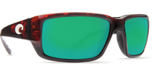 Load image into Gallery viewer, Fantail Sunglasses | Tortise - Green Mirror 580P Lens