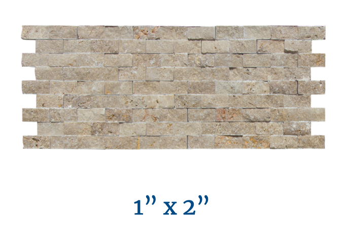 NPT Stone Veneer Travertine Split Face Pool Tile