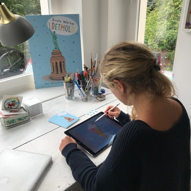 So entsteht ein Kinderbuch: Digital Illustrationen.