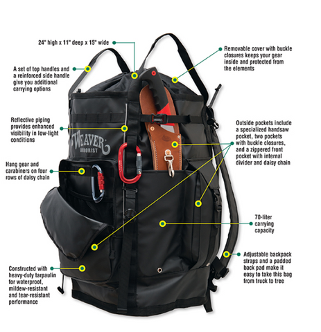 Weaver Cavern Gear Bag Black - treestore.io