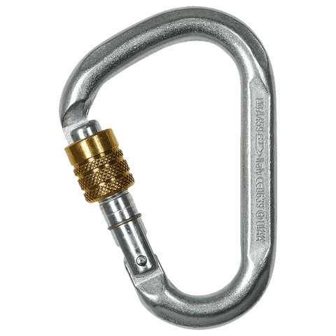 Climbing Technology SNAPPY STEEL SG Screw Gate 40kN carabiner - treestore.io