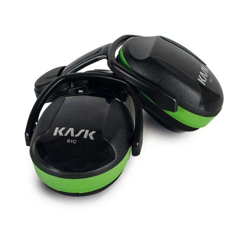 KASK Ear Defenders SC1 Green/SC2 Yellow/ SC3 Orange + Adapters - treestore.io