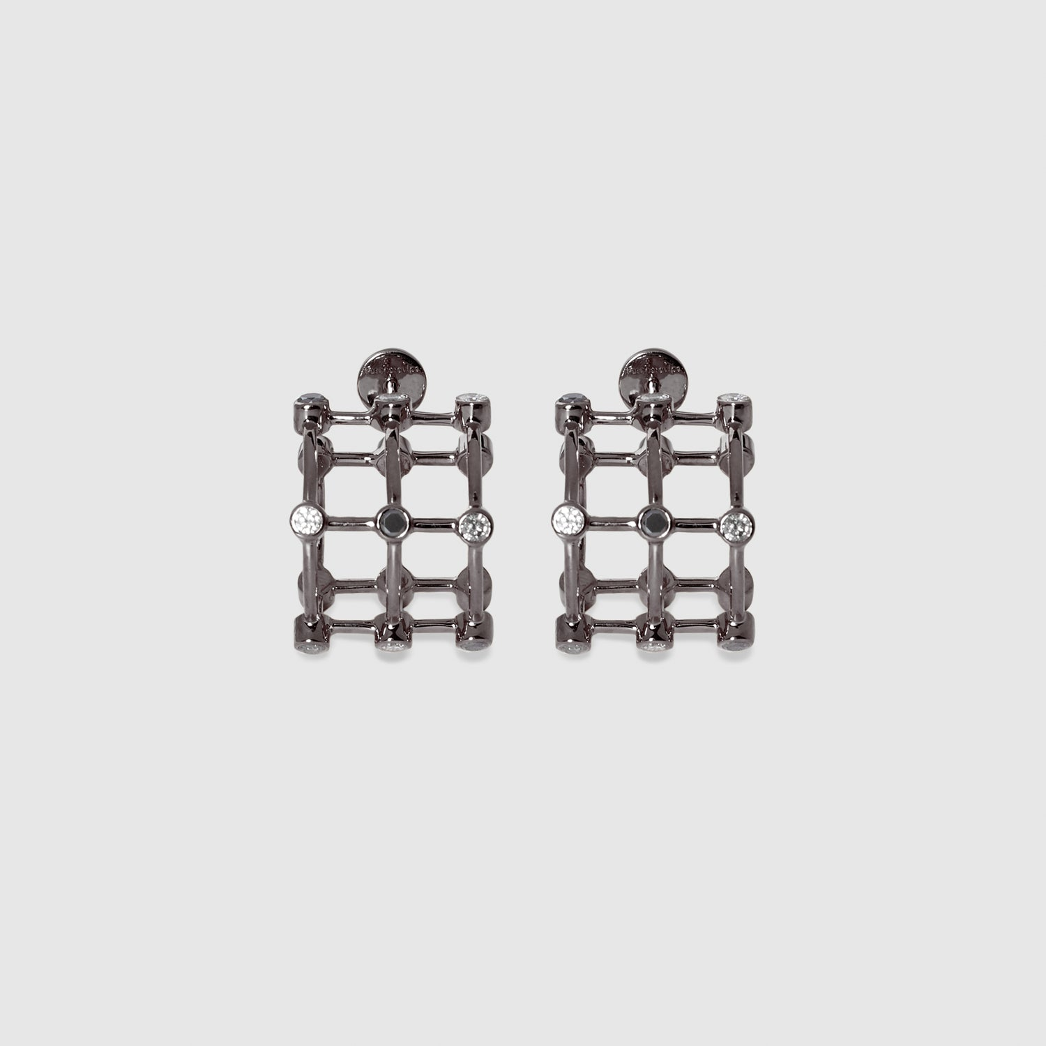 Salt & Pepper Cage Earrings