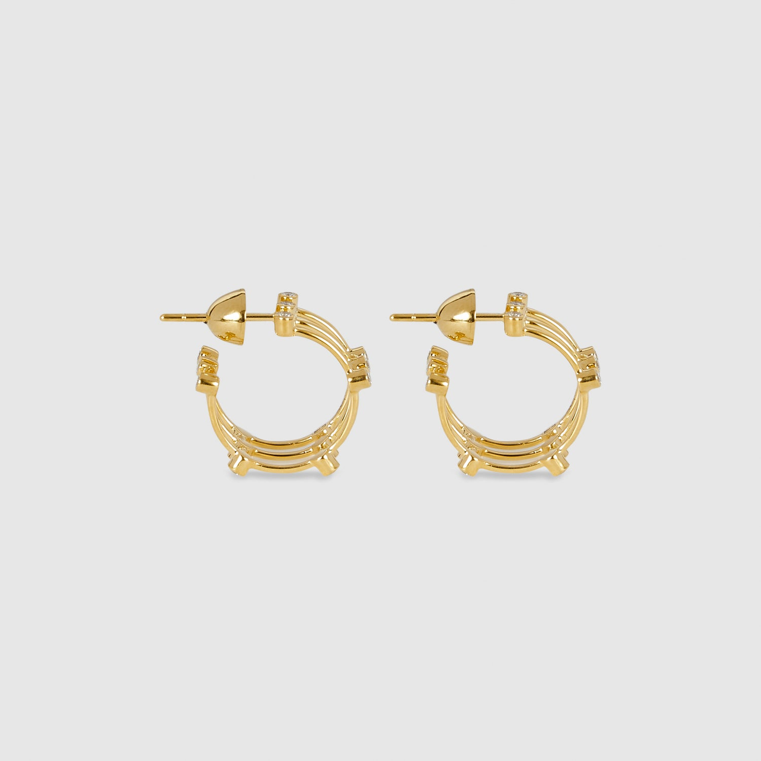 Mini Diamond Cage Earrings