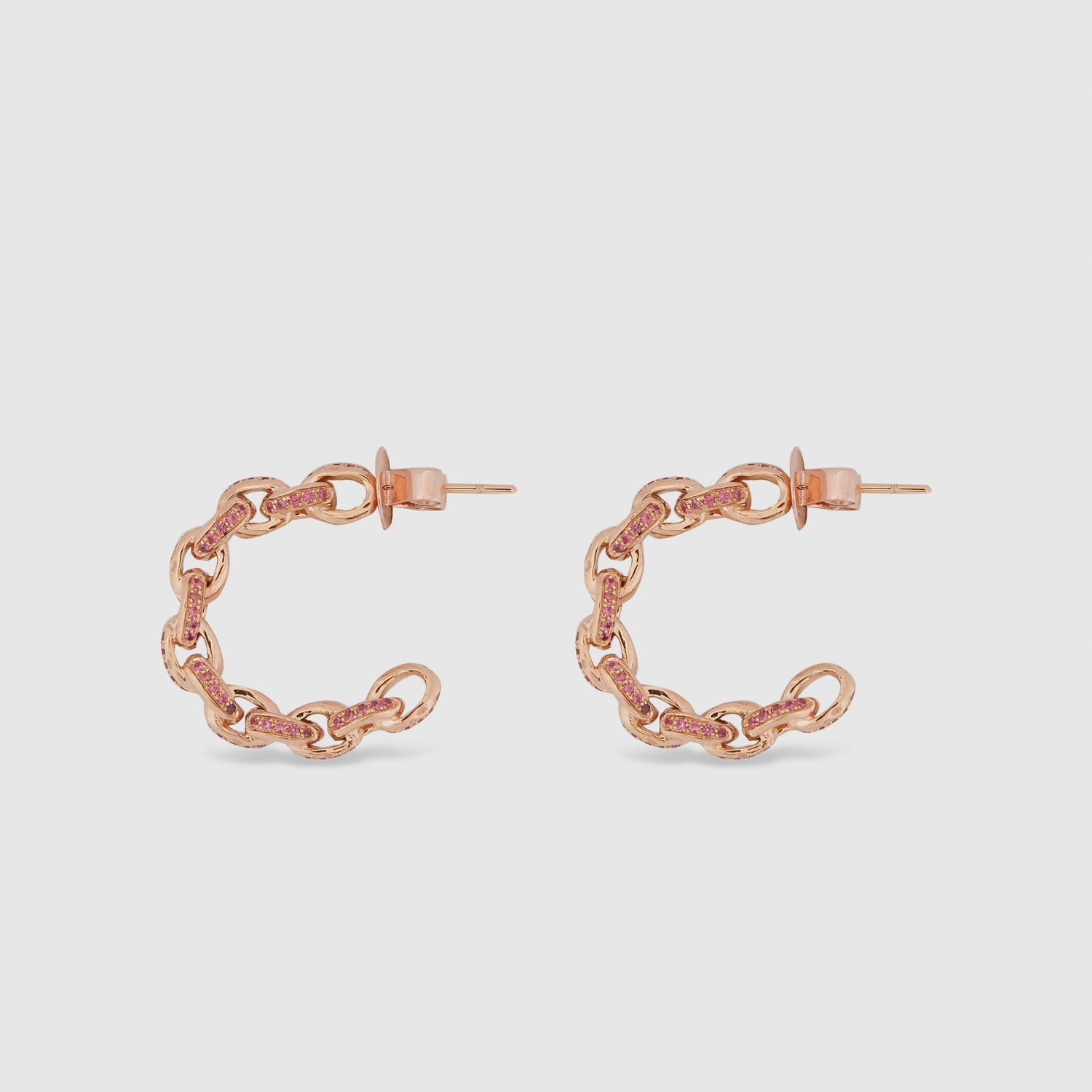 Rose Chain I Hoops