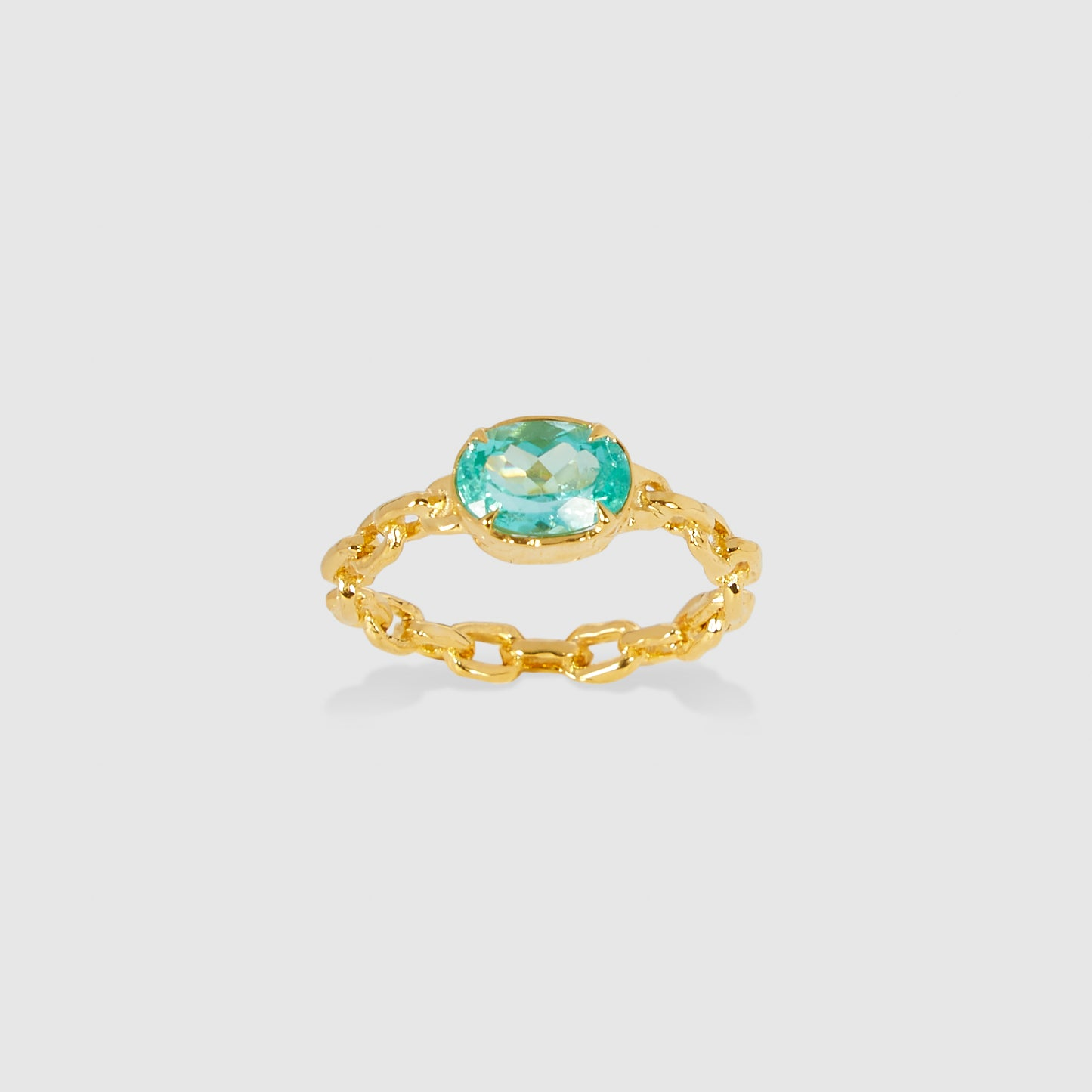 Mint Chain Ring