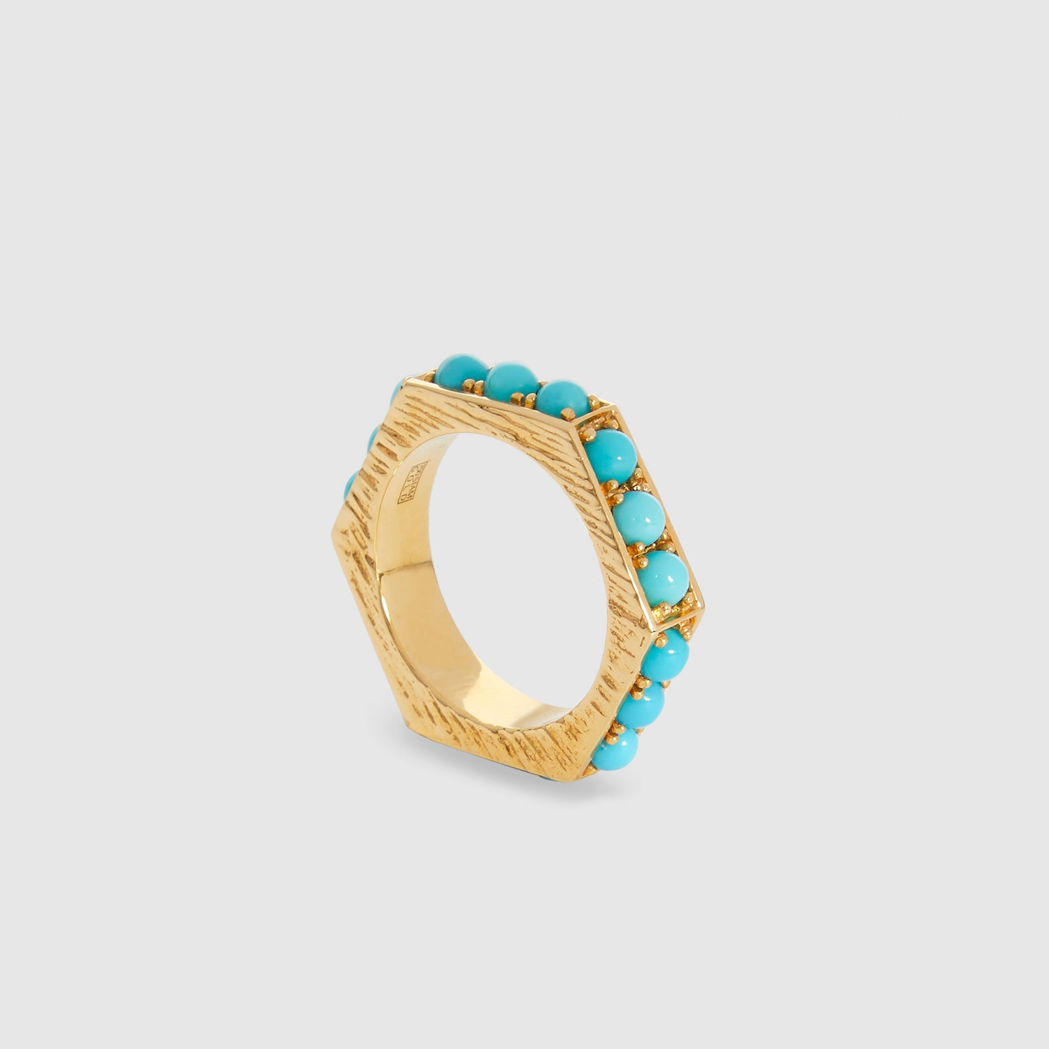 Blue Hexagon II Ring