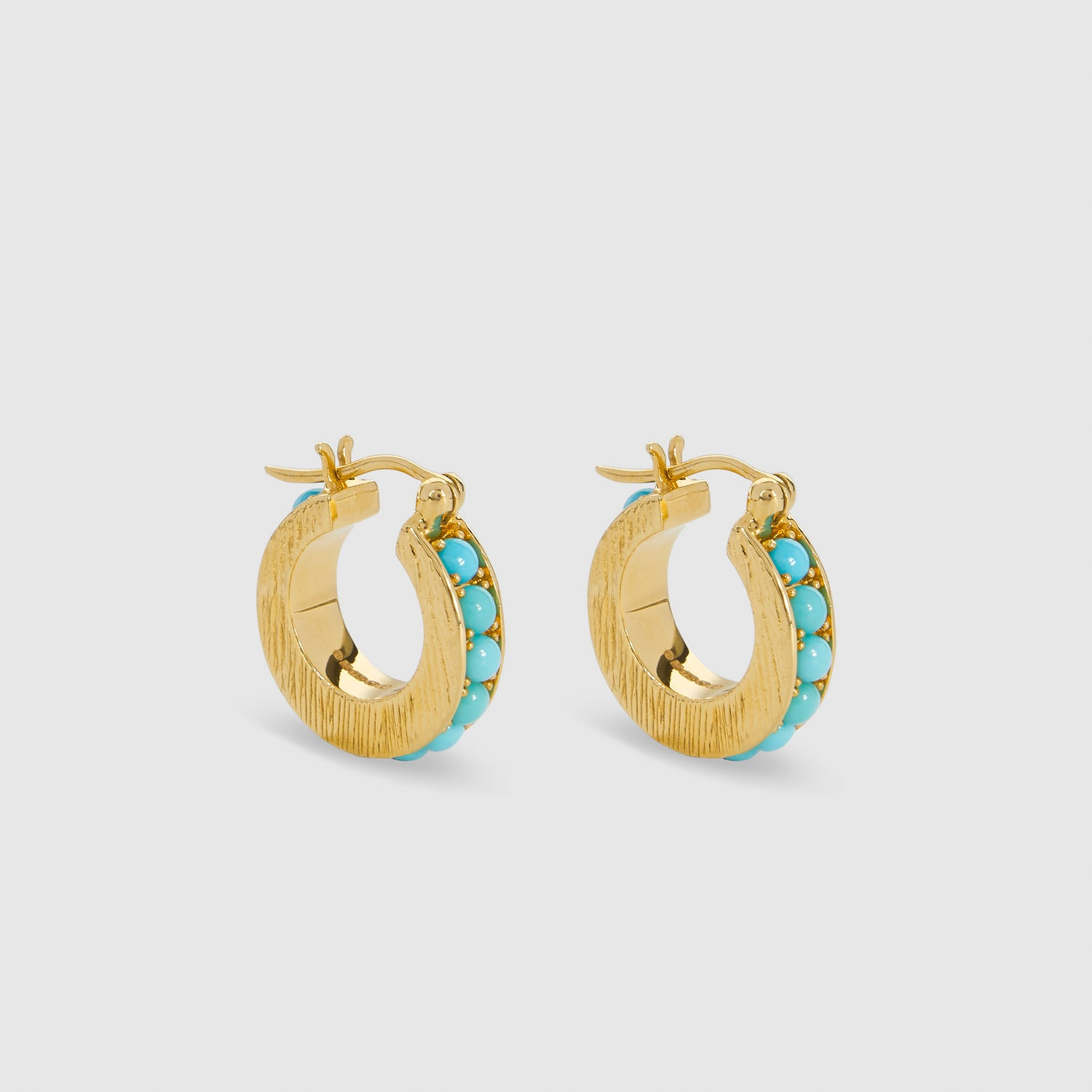 Blue Crescent I Hoops