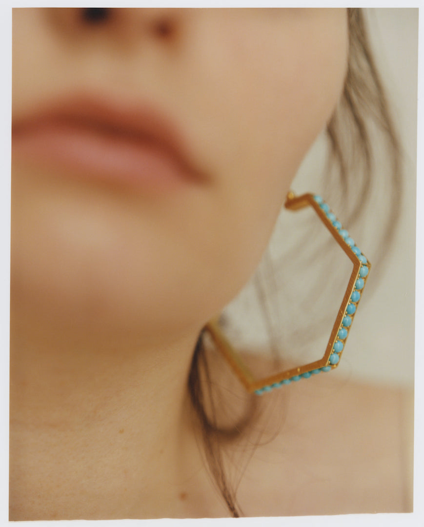 Blue Hexagon III Hoops