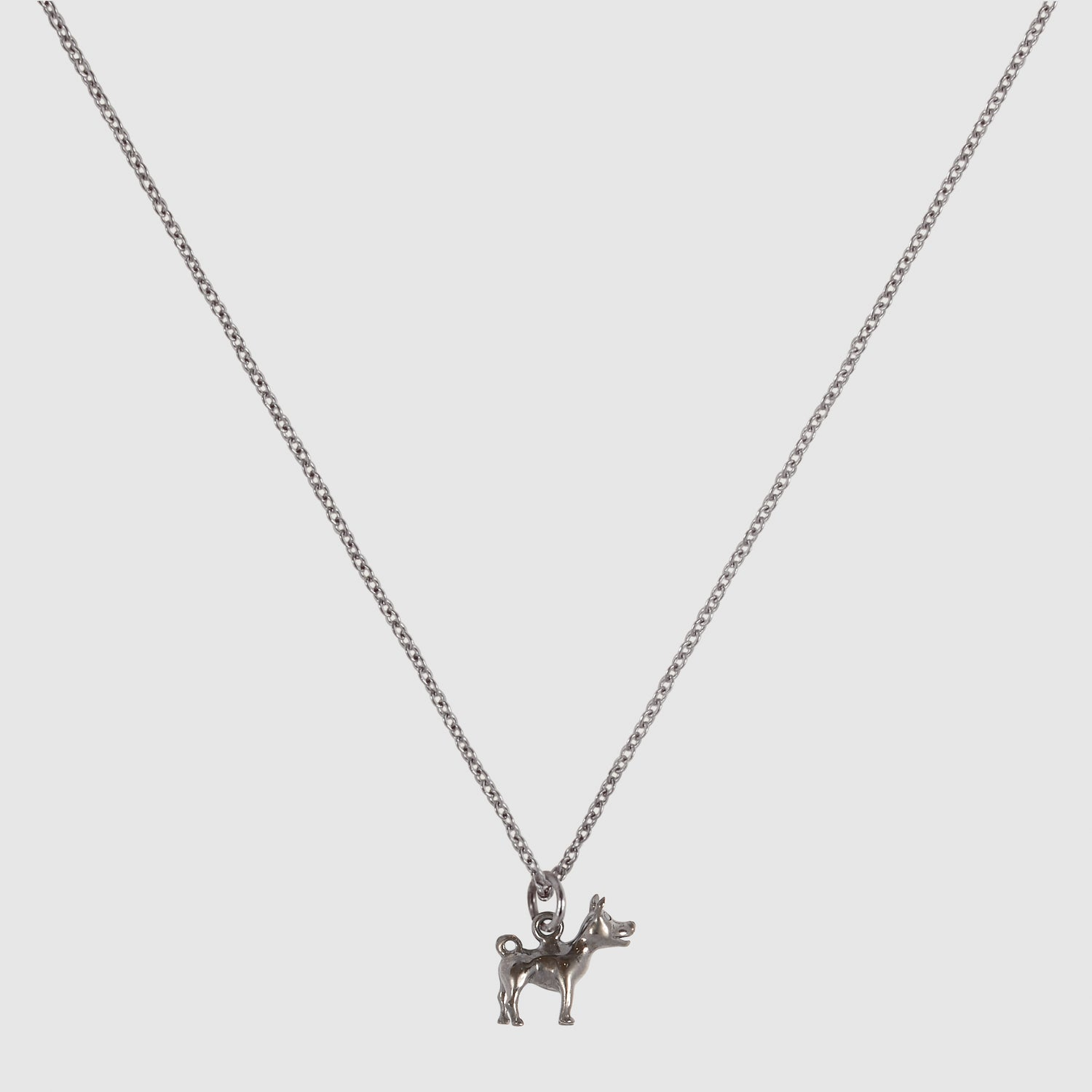Tiny Diamond Dog Necklace