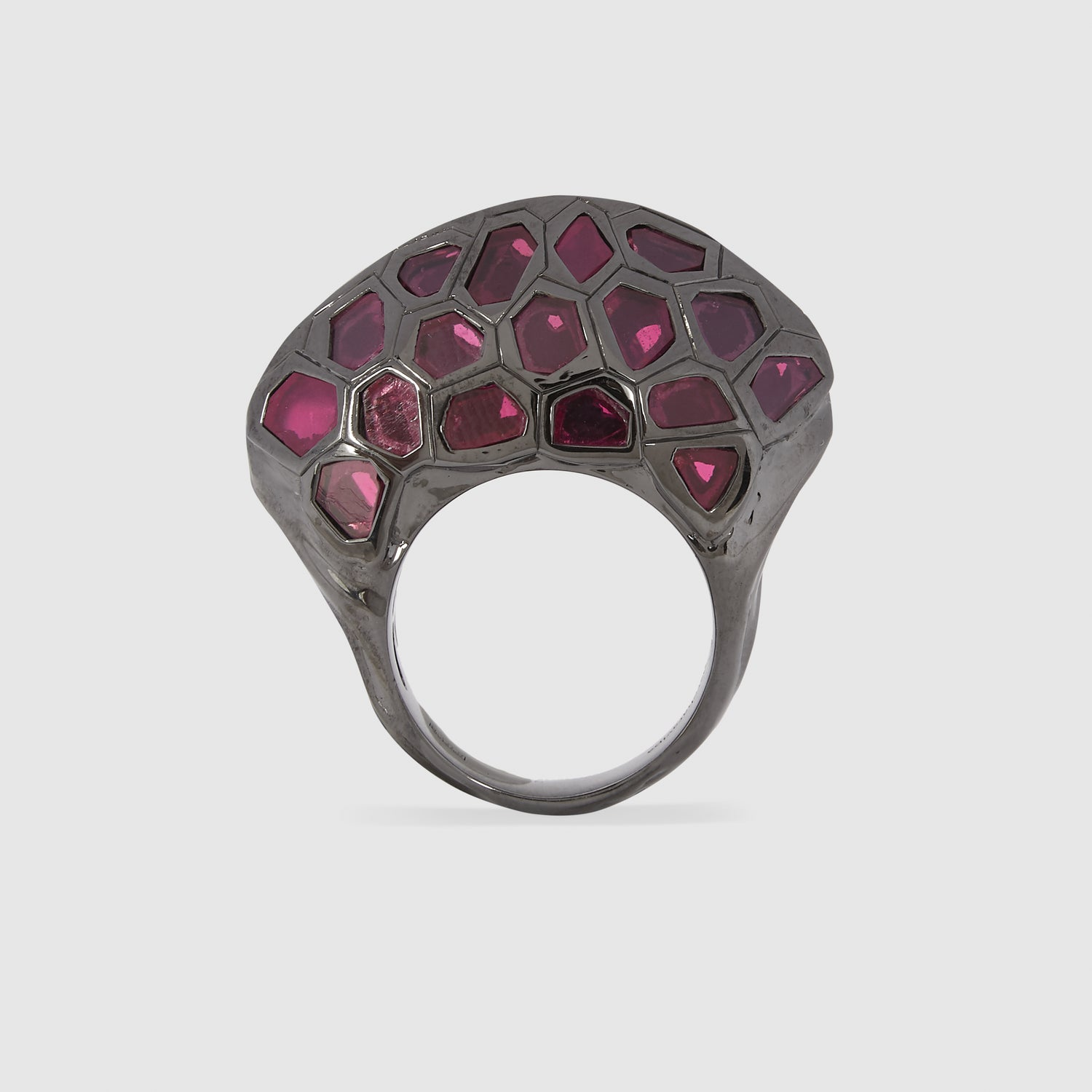 Spinel Polki Lip Ring