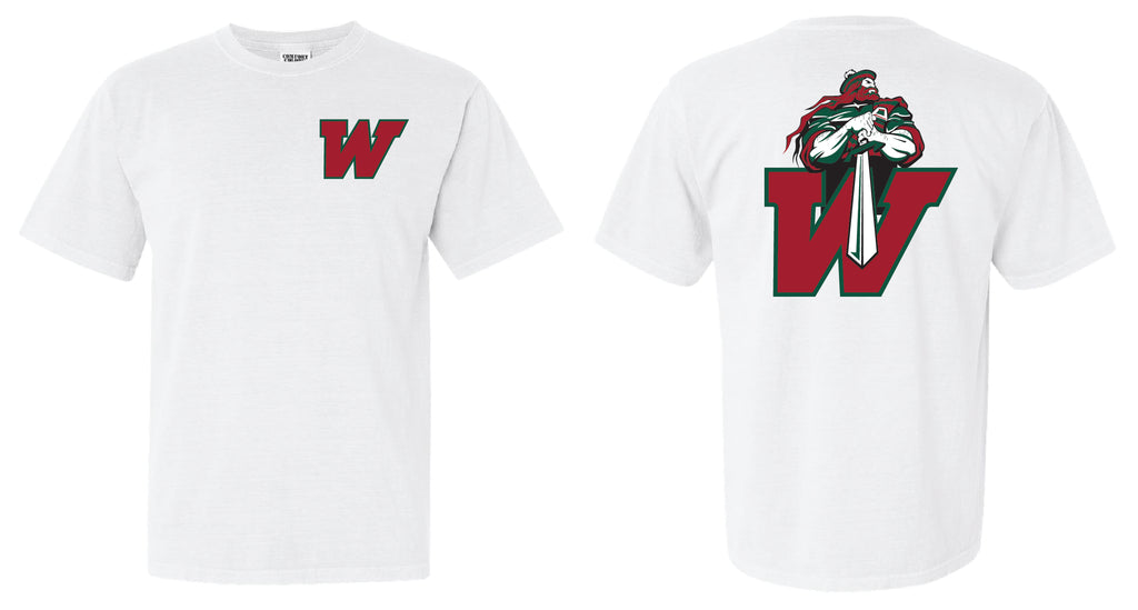 TWHS Highlander's Short Sleeve Shirt White