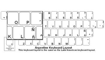 Argentine (Spanish) Keyboard Labels - DSI Depot