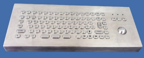 Industrial Metal Kiosk Desktop Compact Optical Trackball Keyboard with FN Key DKM-CT-2002-DESK - DSI Depot