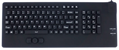 Waterproof IP68 Silicone USB Keyboard with Integrated Mouse Pointer IKB108 - DSI Depot