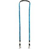 White Hands Free Wine Glass Holder with Navy Blue Bling Lanyard - DSI Depot