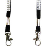 White Hands Free Wine Glass Holder with Clear Bling Lanyard - DSI Depot