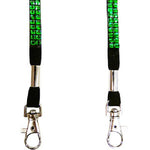 Black Hands Free Wine Glass Holder with Green Bling Lanyard - DSI Depot