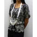 White Hands Free Wine Glass Holder with  White Simple Lanyard - DSI Depot