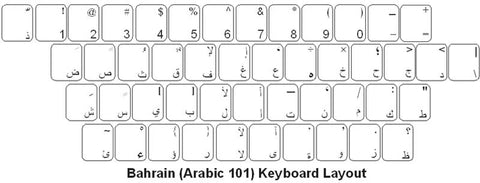 Bahrain (Arabic) Keyboard Labels - DSI Depot
