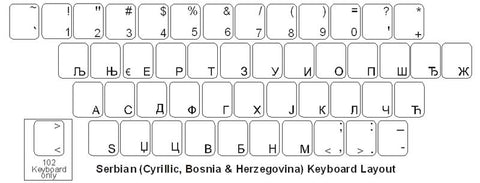 Serbian (Cyrillic) Keyboard Labels - DSI Depot