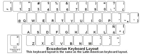 Ecuadorian (Spanish) Keyboard Labels - DSI Depot