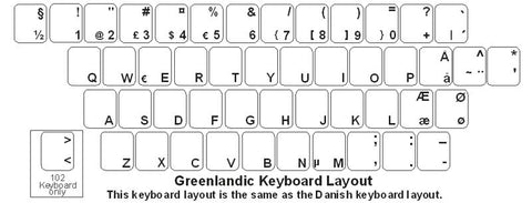 Greenlandic Keyboard Labels - DSI Depot