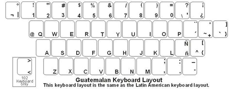 Guatemalan (Spanish) Keyboard Labels - DSI Depot