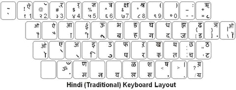 Hindi Keyboard Labels - DSI Depot