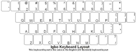 Igbo (Nigeria) Keyboard Labels - DSI Depot